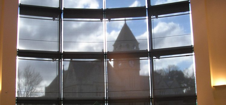 reduce glare with blinds and window film